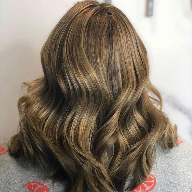 Medium length hair styling